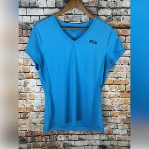 FILA V-NECK SHORT SLEEVE WORKOUT TOP